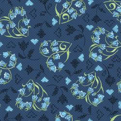 FF203-DE1M Blue Belle - Beloved - Denim Metallic Fabric