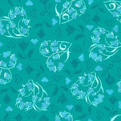 FF203-VI2M Blue Belle - Beloved - Vintage Teal Metallic Fabric