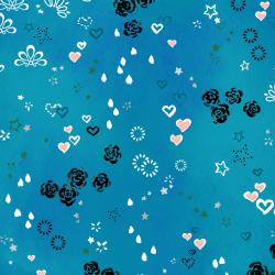 3604-001 Enchanted Lake - Charmed - Lagoon Metallic Fabric