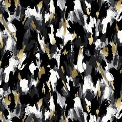 FF503-ON5M Shiny Objects - Good as Gold - Fresh Paint - Onyx Metallic Fabric