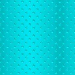 FF506-TU3 Shiny Objects - Good as Gold - Hobnail Glass - Turquoise Fabric