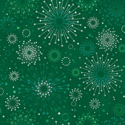 FF400-HO1M Shiny Objects - Holiday Twinkle 2 - Sparklers - Holly Metallic Fabric