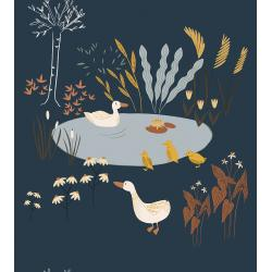 ID100-LA2 Pond Life - Ducks - Lagoon Fabric