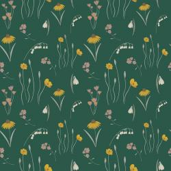 ID102-GR1 Pond Life - Mini Meadow - Green Fabric