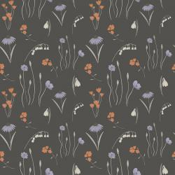 ID102-GR3 Pond Life - Mini Meadow - Grey Fabric