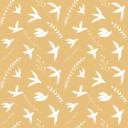 ID104-DI1 Pond Life - Birds in Flight - Dijon Fabric