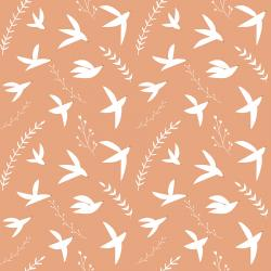ID104-TE4 Pond Life - Birds in Flight - Terracotta Fabric