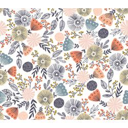 JM201-SD1M Summer in the Cotswolds - English Garden - Summer Days Metallic Fabric