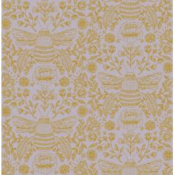 JM202-DU3M Summer in the Cotswolds - Bee's Knees - Dusk Metallic Fabric