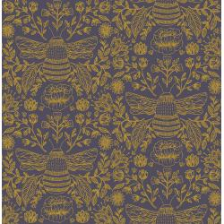 JM202-TW1M Summer in the Cotswolds - Bee's Knees - Twilight Metallic Fabric