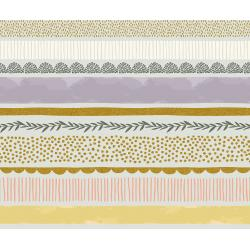JM204-MI3M Summer in the Cotswolds - Bumble Bee - Mist Metallic Fabric