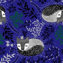 JM101-NA1M Winter Dreams - Royal Fox - Navy Metallic Fabric