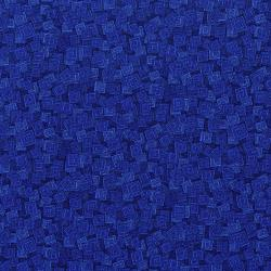 3215-001 Hopscotch - Overlapping Squares - Blueberry Fabric