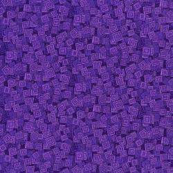 3215-007 Hopscotch - Overlapping Squares - Iris Fabric