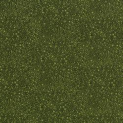 3224-008 Hopscotch - Random Dots - Olive Fabric