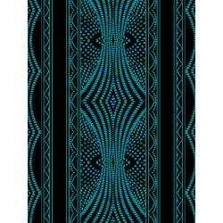 JB200-TE1 Andalucia - Border Stripe - Teal Fabric