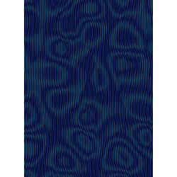 3583-003 Aruba - Moire - Dark Teal Fabric