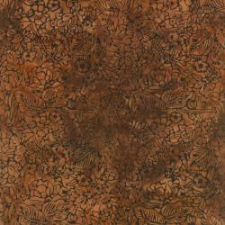 1763-003 Best Of Malam Batiks - Tropical - Chocolate Fabric