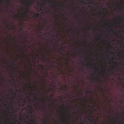 2142-003 Best Of Malam Batiks - Damask - Eggplant Fabric
