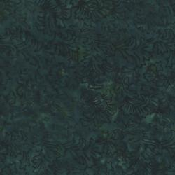 2142-005 Best Of Malam Batiks - Damask - Dark Teal Fabric
