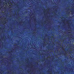 2143-001 Best Of Malam Batiks - Ovals - Dark Purple Fabric