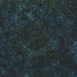 2144-011 Best Of Malam Batiks - Paisley - Navy/Black Fabric