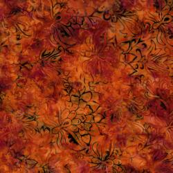 2545-003 Best Of Malam Batiks - Faberge Large - Blood Orange Fabric