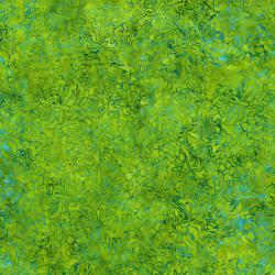 2546-001 Best Of Malam Batiks - Faberge Small - Lime/Teal Fabric