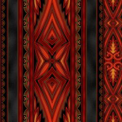 5369-011 Border Basics - Kalimantan - Red Fabric
