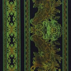 3012-001 Burano - Lace Border - Khaki Fabric