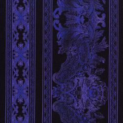 3012-005 Burano - Lace Border - Periwinkle Fabric