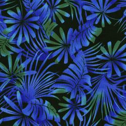 3013-003 Burano - Palm Leaf - Blue Fabric