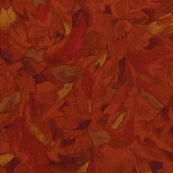 3014-002 Burano - Linear Floral - Orange Fabric