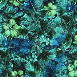 2793-001 Casablanca - Floral - Teal Fabric