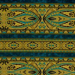 2795-001 Casablanca - Border - Teal Fabric