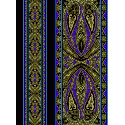 2795-006 Casablanca - Border - Royal Blue Fabric