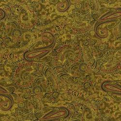 2447-002 Delhi - Paisley - Golden Fabric