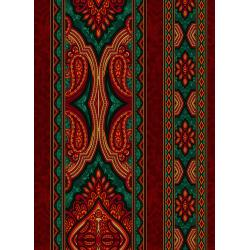 3578-005 Holiday Aruba - Border - Red Green Fabric