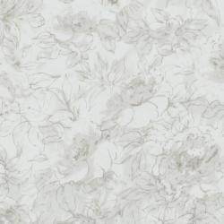 7132-025 Jinny Beyer Palette - Floral Outline - White Fabric