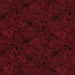 8737-005 Jinny Beyer Palette - Hens & Chicks - Ruby Fabric