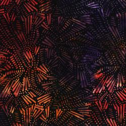 3281-001 Malam Batiks V - Fireworks - Orange Purple Batik Fabric