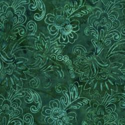 3284-003 Malam Batiks V - Jacobian - Dark Teal Batik Fabric