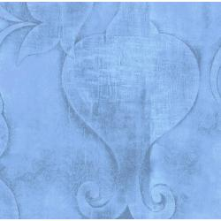 3417-001 Midnight Garden - Embossed - Blue Fabric