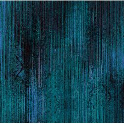 3419-002 Midnight Garden - Linear - Teal Fabric
