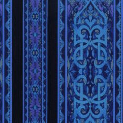3208-001 Miyako - Border - Blue Fabric