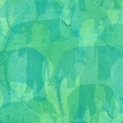 2661-003 Safari - Elephant - Aqua Fabric