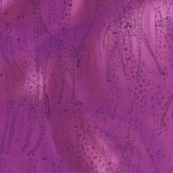 2664-002 Safari - Giraffe - Purple Fabric