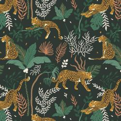 JD100-JU3 Magic of Serengeti - Leopard - Jungle Fabric