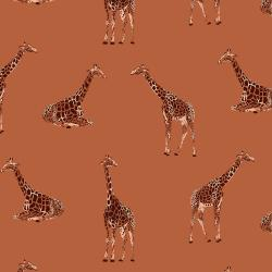 JD101-BC2 Magic of Serengeti - Giraffe - Baked Clay Fabric