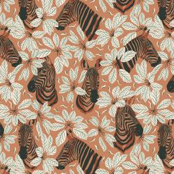 JD102-AW3 Magic of Serengeti - Happy Zebra - Amber Winds Fabric